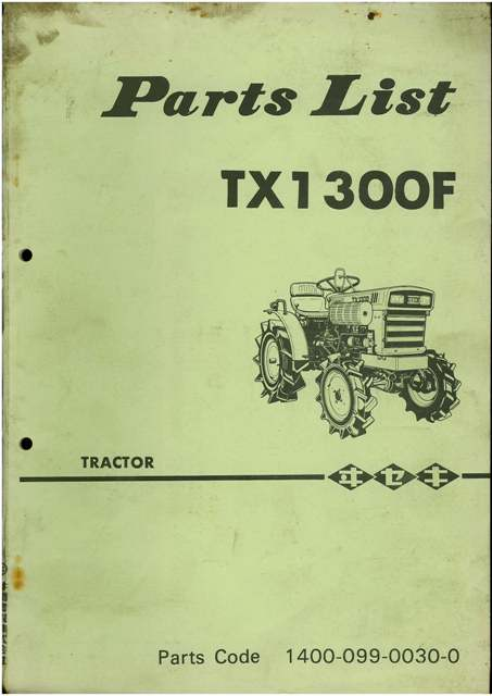 Iseki Tractor Tx1300f Parts Manual