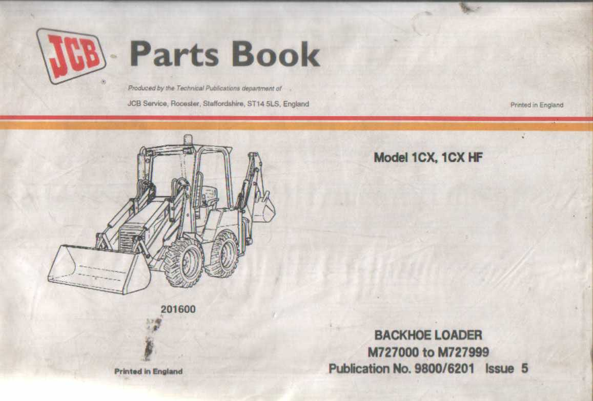 jcb digger backhoe loader 1cx 1cx hf parts manual rh agrimanuals com jcb 1cx manual pdf jcb 1cx service manual