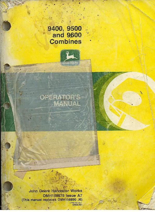 john deere combine 9400 9500 9600 operators manual
