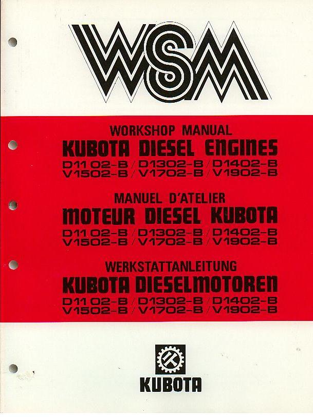 kubota diesel engine d1102 b d1302 b d1402 b v1502 b v1702 b v1902 b rh agrimanuals com kubota v1702 repair manual Kubota V1702 Engine Parts Catalog