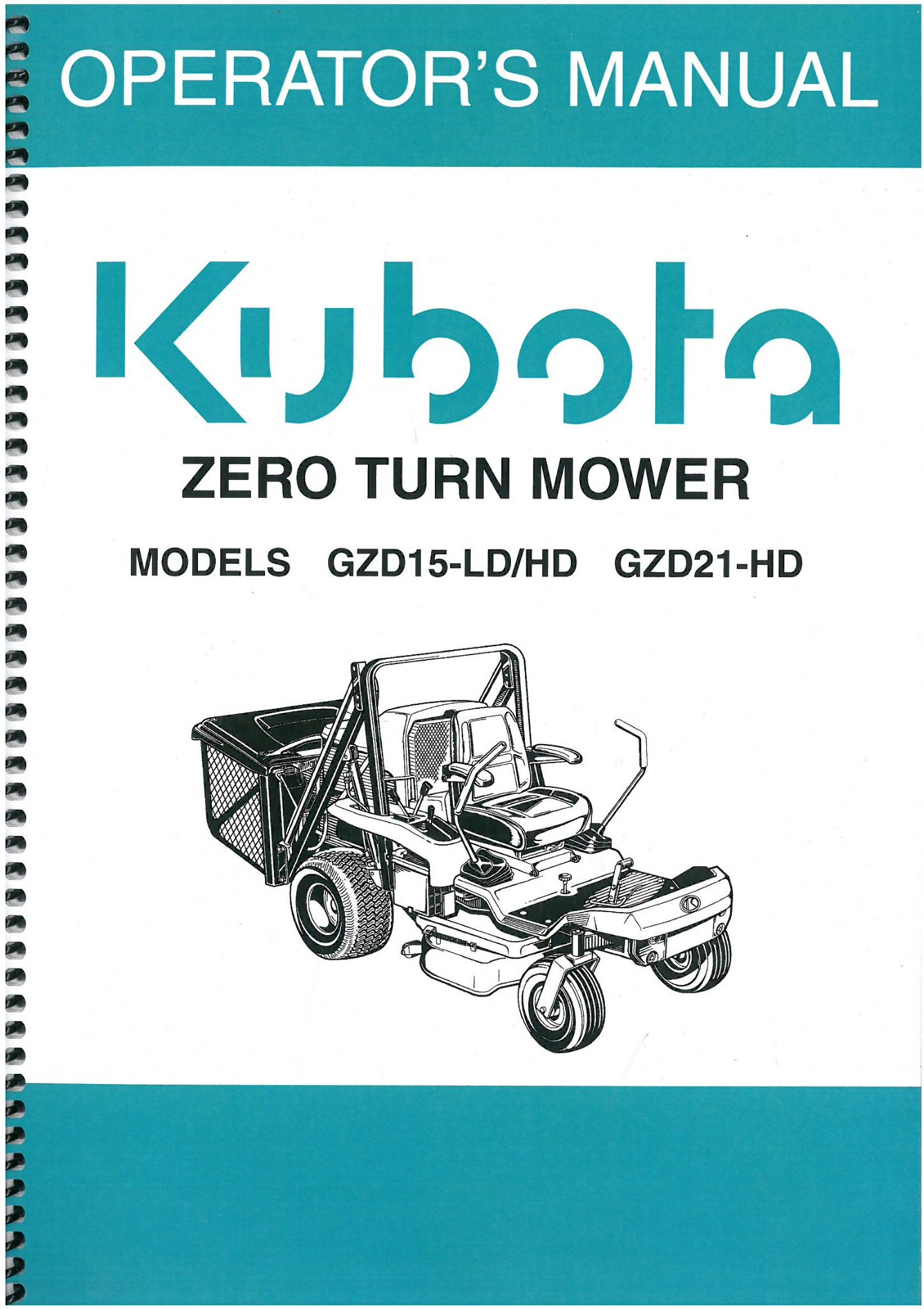 ... Array - kubota ride on mower gzd15 ld gzd15 hd gzd21 hd operators manual  rh agrimanuals ...