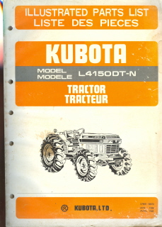 Kubota Tractor L4150DT-N Parts Manual