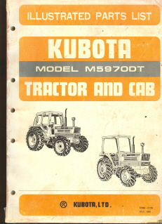 Kubota Tractor M5970DT Parts Manual