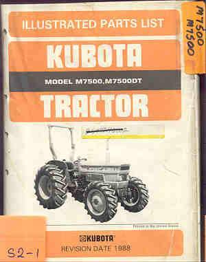 Kubota Tractor M7500 M7500DT Parts Manual