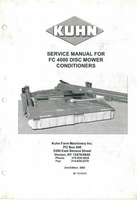 Vicon cm 240 Owners manual