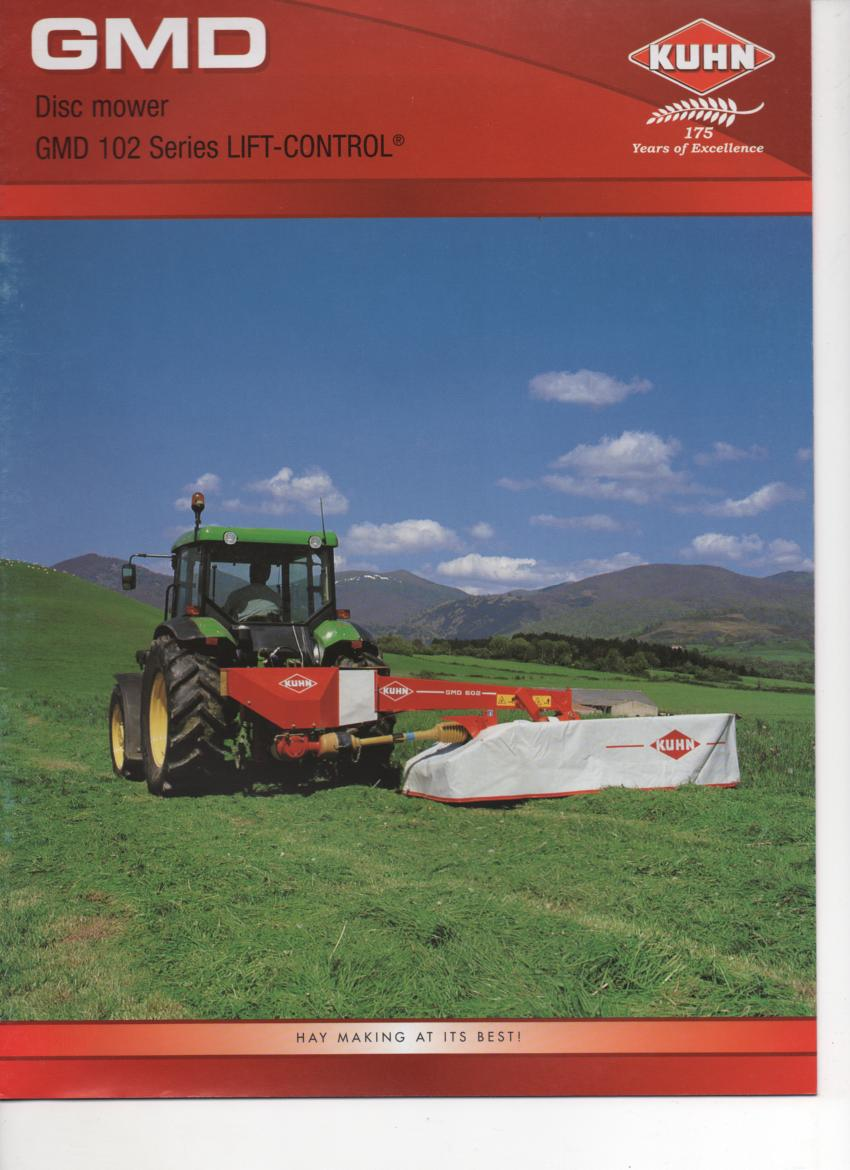 kuhn gmd disc mower lift control gmd602 gmd702 gmd 802 gmd902 brochure rh agrimanuals com