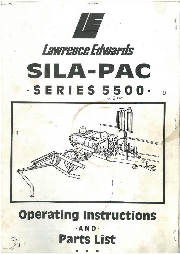 lawrence edwards supa pac series 5500 6500 bale wrapper operators rh agrimanuals com  edwards 6500 service manual