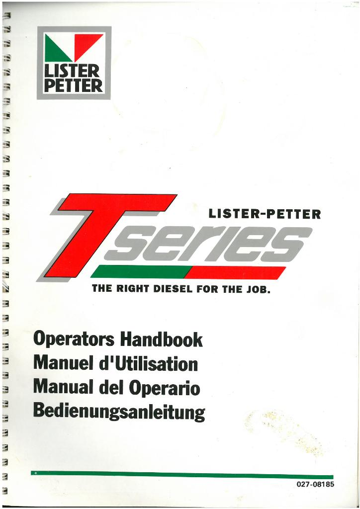 lister petter engine t series tx2 tx3 ts1 tr1 ts2 tr2 ts3 tr3 rh agrimanuals com Lister Engine Dealer Used Lister Diesel Engines