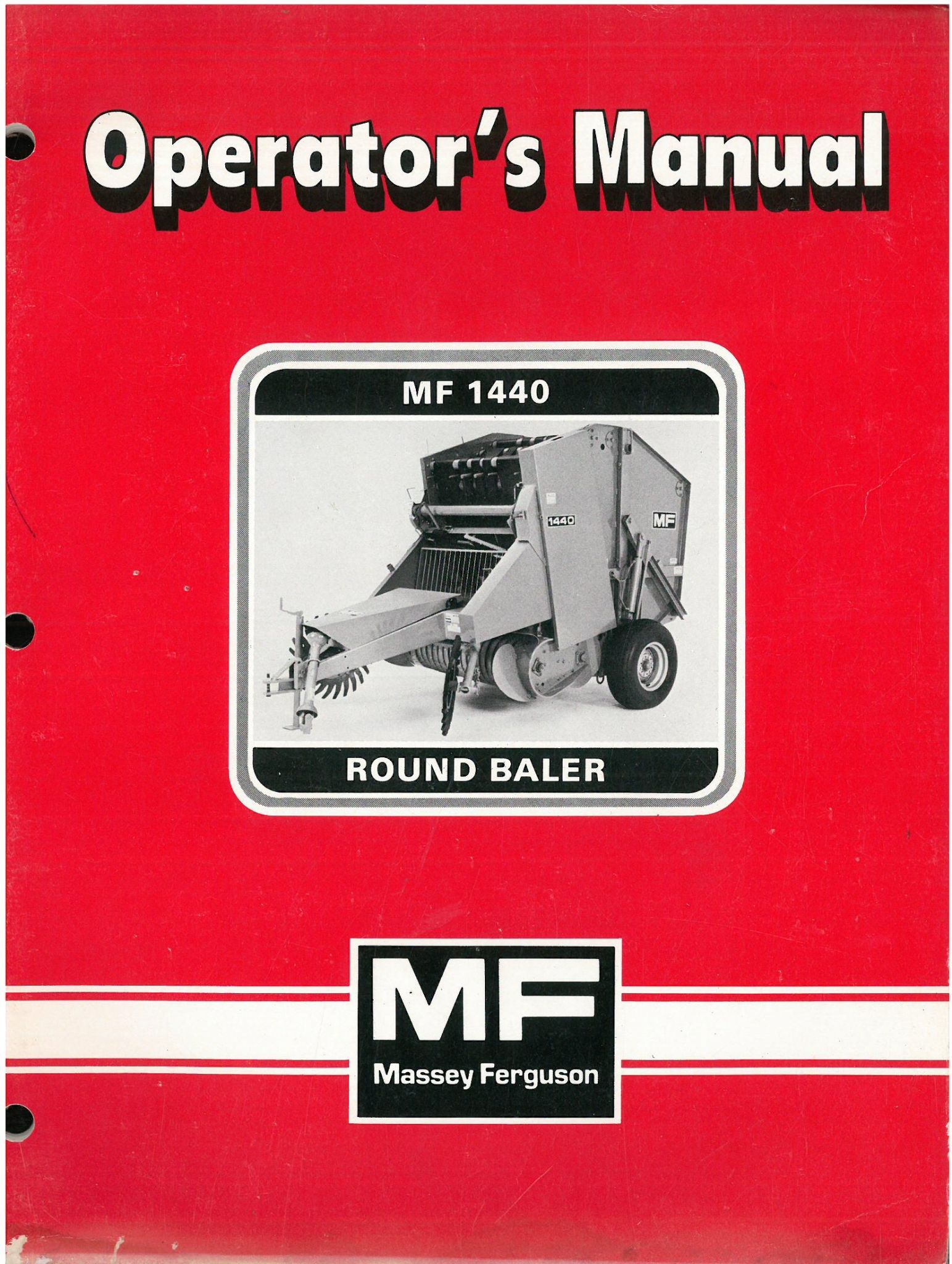 Mf1440 Round Baler Operators Mannual Massey Ferguson Business, Office & Industrial