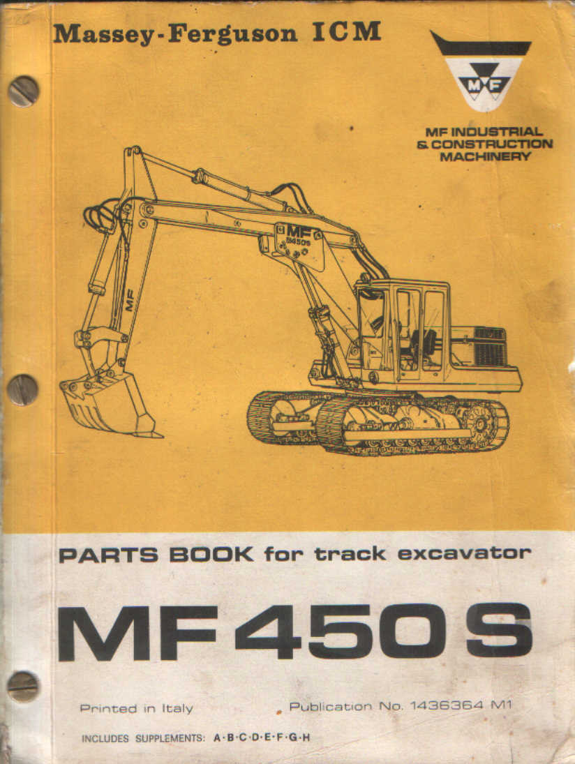 Massey Ferguson 450S Excavator Parts Manual - MF450S