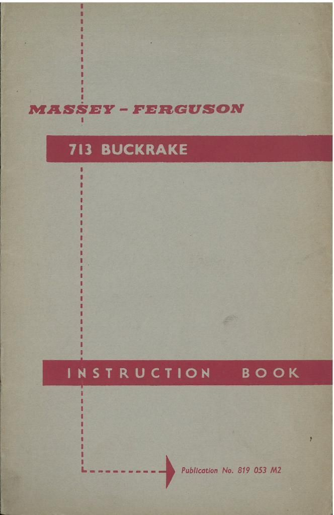 Ferguson Forager Instruction Book ............................ Other Original Manual