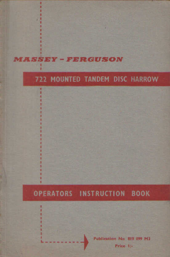 Manual Ferguson Disc Plough Instruction Book ................................ Other