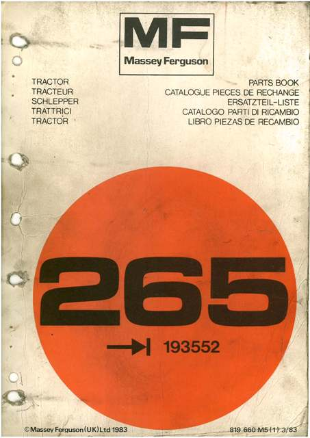 massey ferguson tractor 265 parts manual mf265 rh agrimanuals com massey ferguson 165 manual free massey ferguson 265 parts manual
