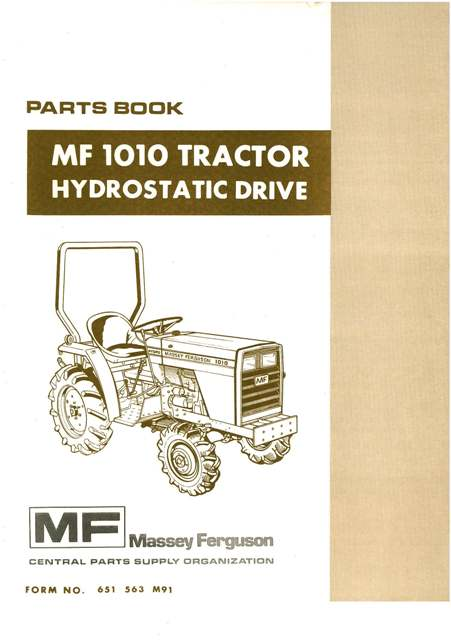 massey ferguson 1010 online parts manual