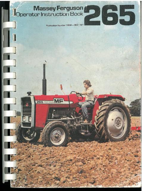 massey ferguson tractor mf265 ops manual gtc rh agrimanuals com massey ferguson 265 parts manual massey ferguson 265 parts manual
