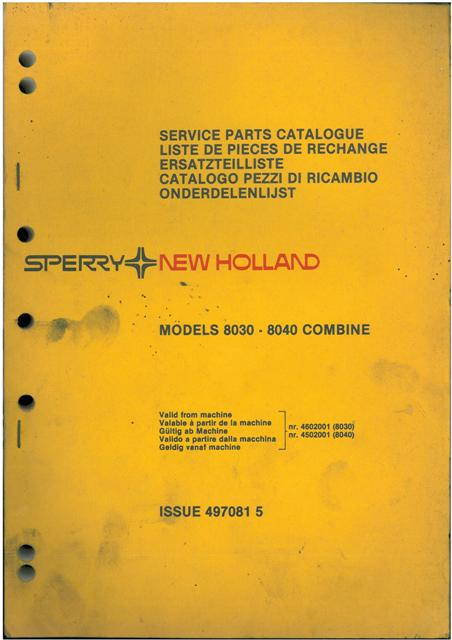 new holland combine 8030 8040 parts manual rh agrimanuals com New Holland Manuals S185 New Holland Mower Manual