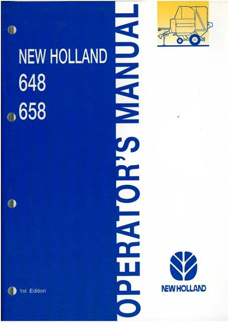 new holland round baler 648 658 operators manual rh agrimanuals com New Holland 630 Baler Problems 630 New Holland Troubleshooting