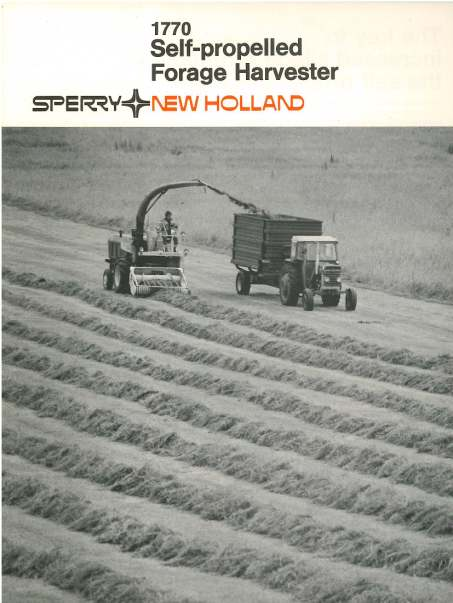 Self Propelled Cart >> New Holland Self Propelled Forage Harvester 1770 Brochure