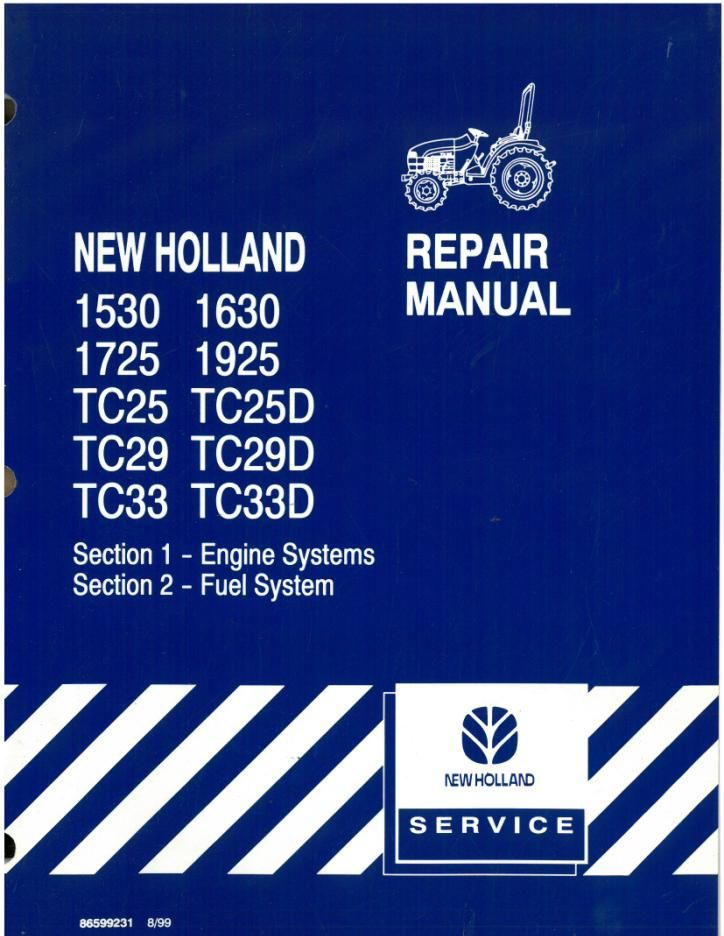 new holland tractor 1530 1630 1725 1925 tc25 tc29 tc33 tc25d tc29d rh agrimanuals com 1725 New Holland Loader Remval New Holland 1725 Gear Shift