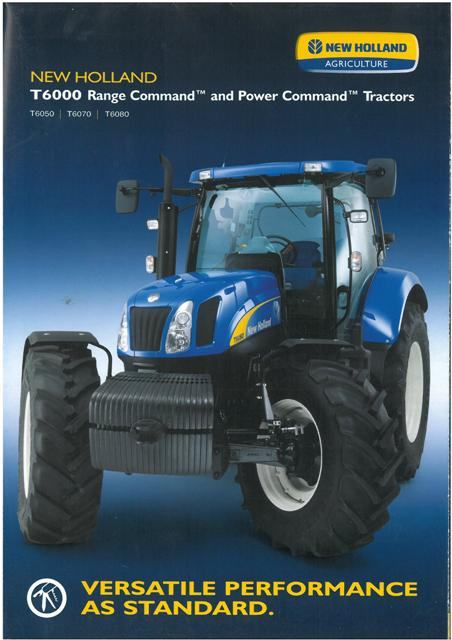 New Holland Tractor T T T Brochure P