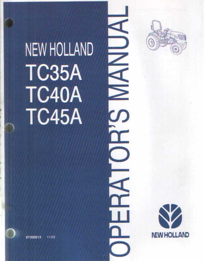New holland tc45a manual