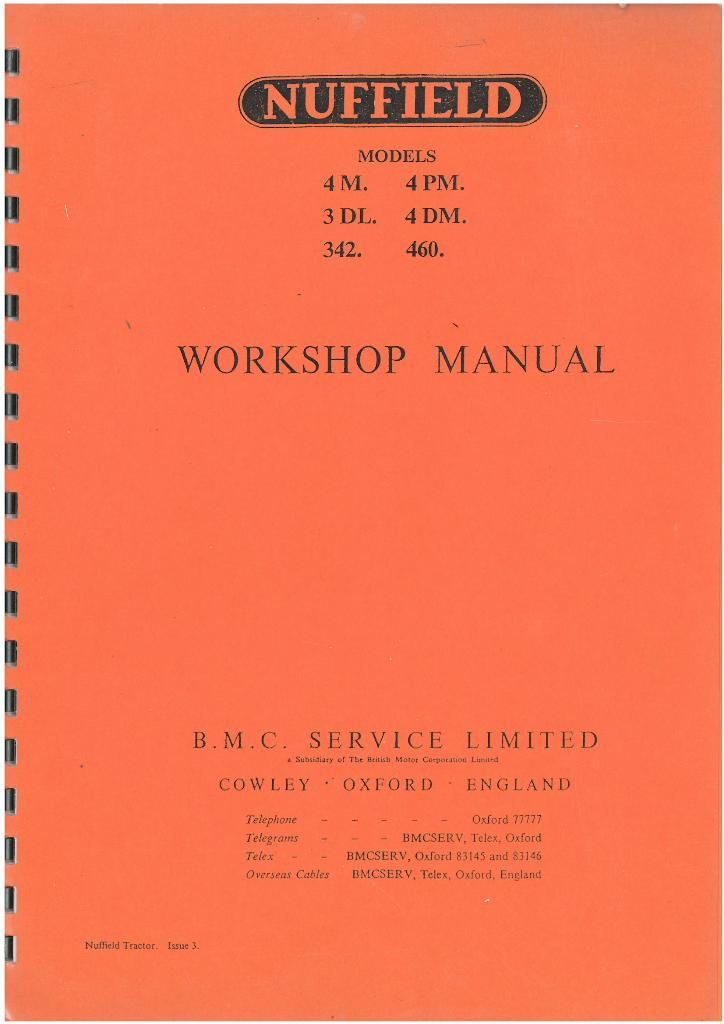 nuffield tractor 4m 4pm 3dl 4dm 342 460 workshop service manual rh agrimanuals com Diesel Tractor Nuffield Tractor Old