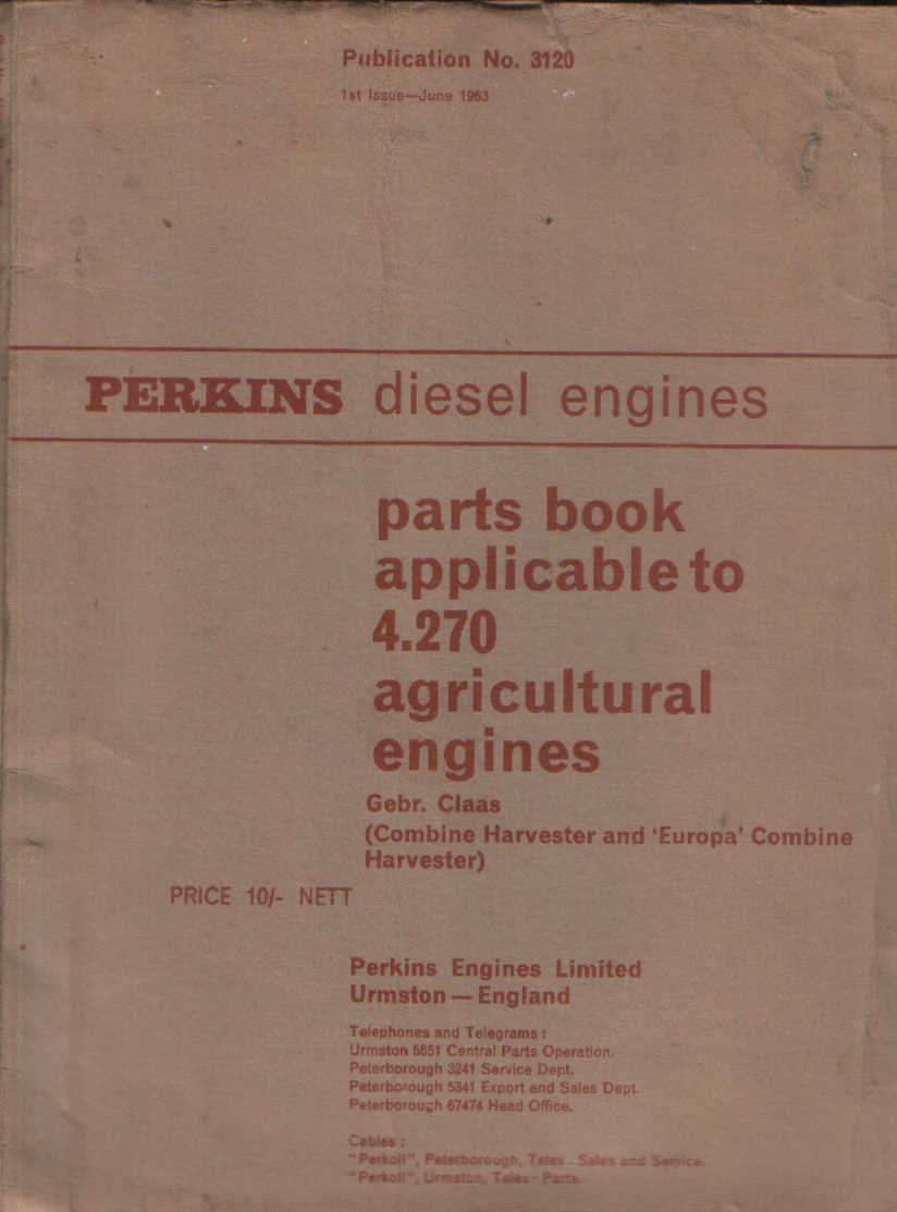 Perkins Diesel Engine 4 270 Parts Manual