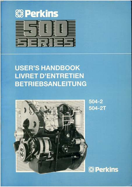 Perkins Engine 500 Series Operators Manual Models 504 2