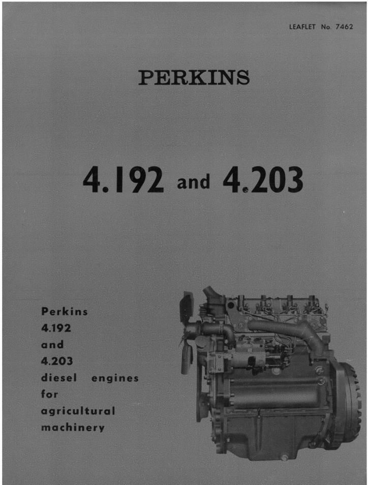 What Is Transmission >> Perkins Engines 4.192 & 4.203 Brochure - MH9