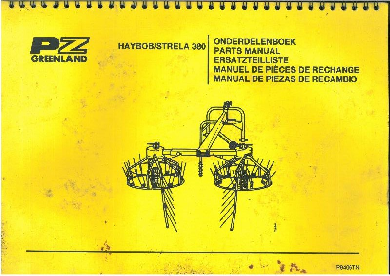 Pz Greenland Haybob Strela 380 Parts Manual