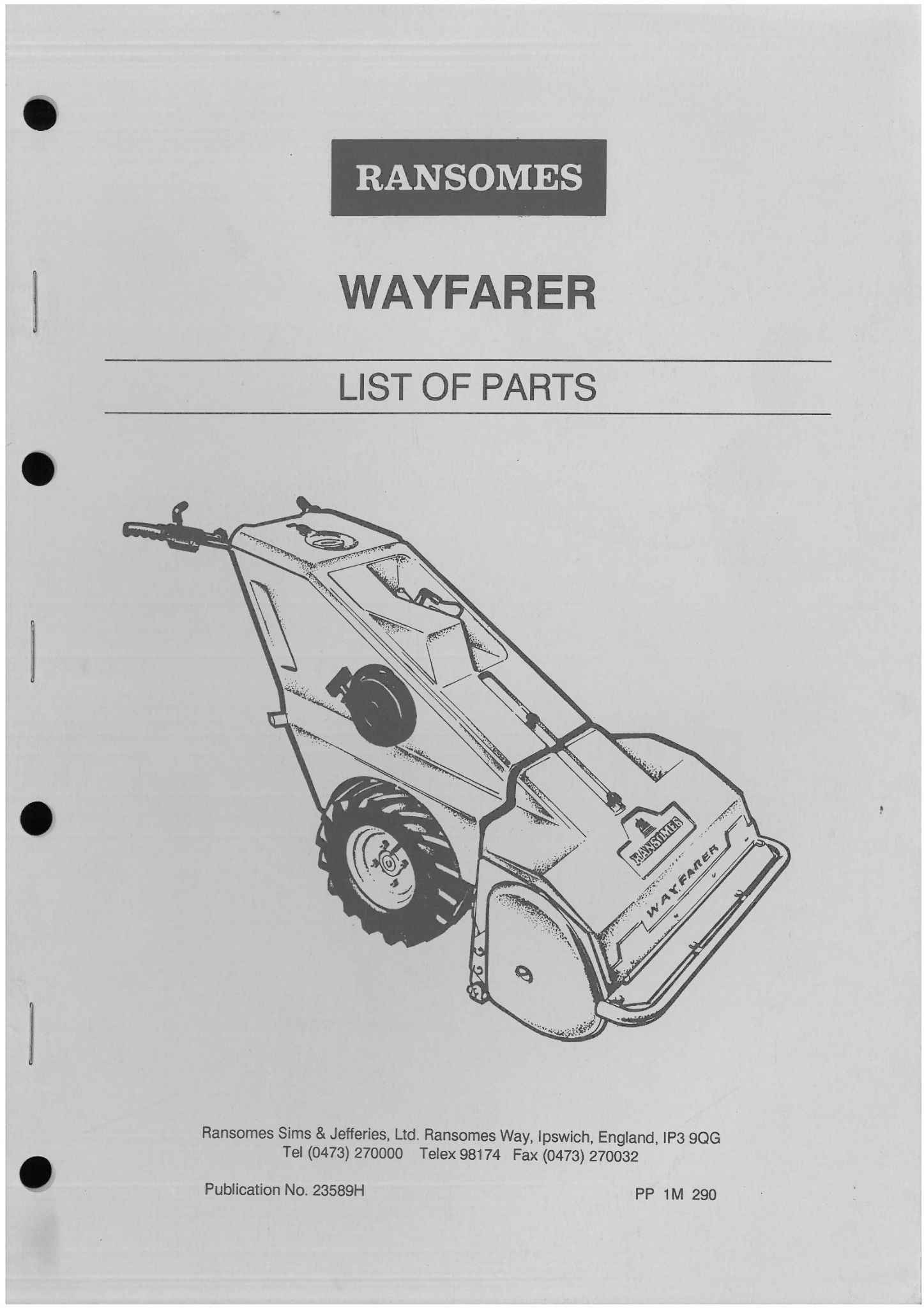 ransomes grass cutting machine wayfarer mower parts manual rh agrimanuals com ransomes mower parts list ransomes mower parts uk