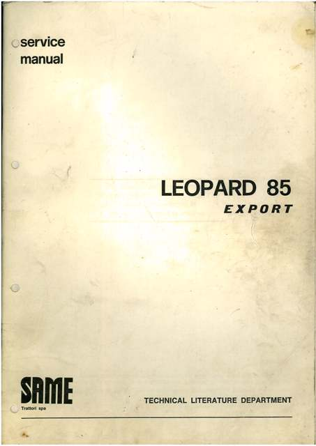 same tractor leopard 85 export service workshop manual rh agrimanuals com Chinese Tractors Tractor ManualsOnline