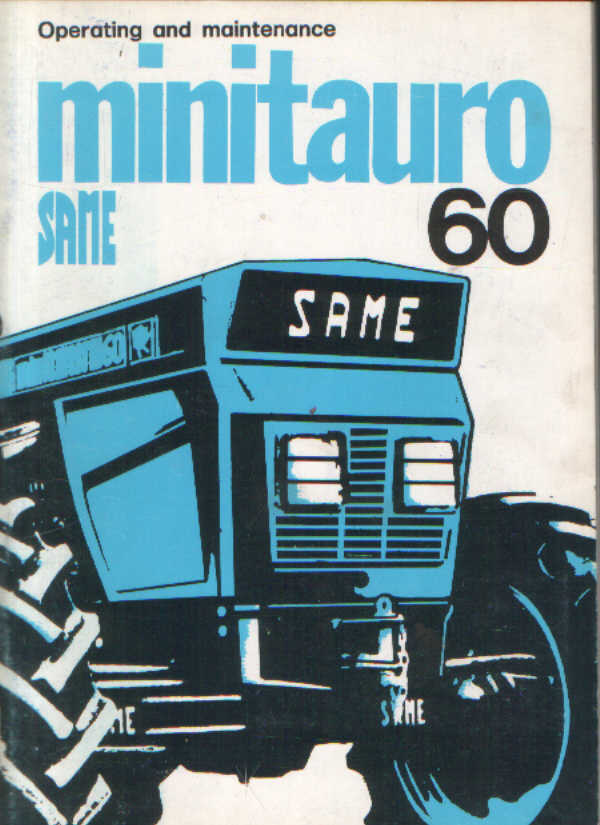 Same Tractor Minitauro 60 Operators Manual