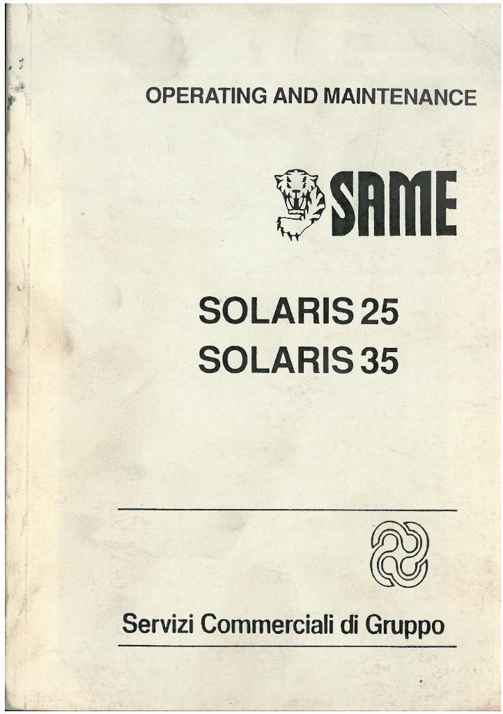 same tractor solaris 25 and 35 operators manual rh agrimanuals com Tractor Owners Manuals Case IH Tractor Manual