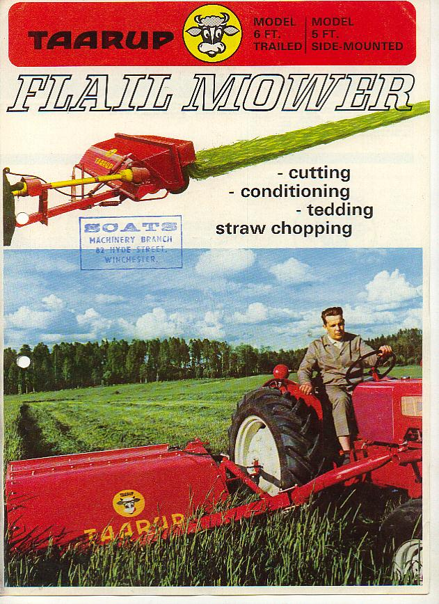 Taarup 6ft Trailed 5ft Side Mounted Flail Mower Brochure