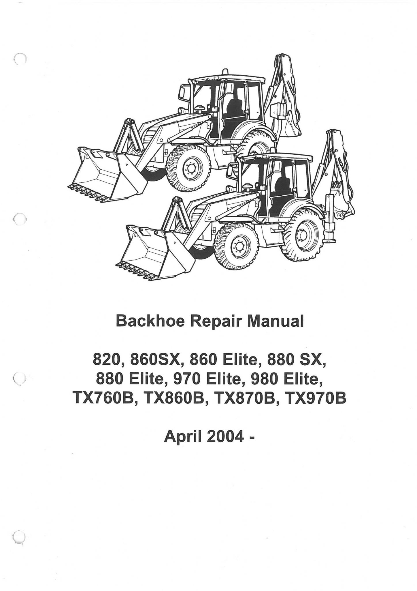 terex digger loader backhoe 820 860sx 860 elite 880sx 880 elite 970 rh agrimanuals com terex 860 workshop manual terex 860 service manual