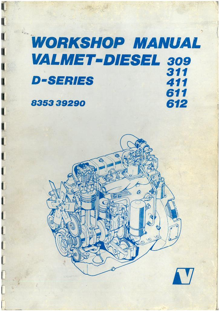 valmet diesel engine 309 311 411 611 612 workshop service manual rh agrimanuals com valmet 665 service manual valmet 6300 service manual