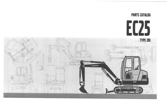 Volvo Excavator Ec25 Type 281 Parts Manual