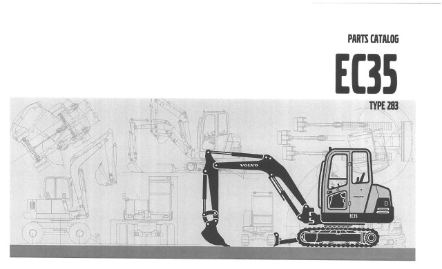 Volvo Excavator EC35 Type 283 Parts Manual