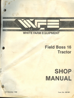 White Iseki Field Boss 16 Tractor Service Workshop Manual