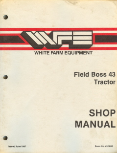 White Iseki Field Boss 43 Tractor Service Workshop Manual