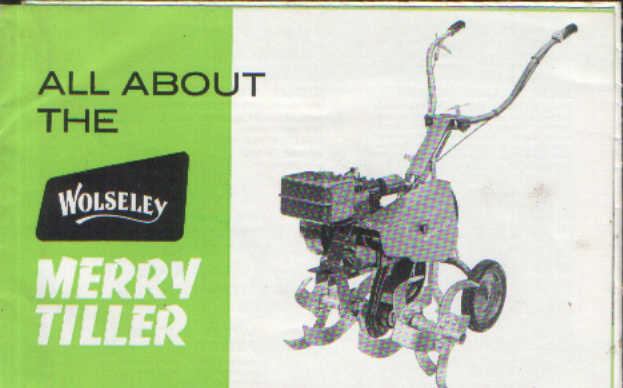 Wolseley Merry Tiller Brochure