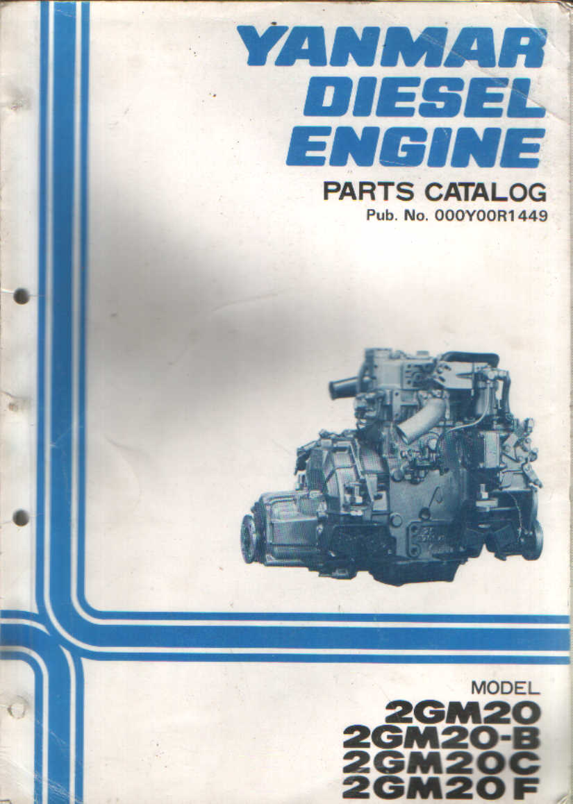 Yanmar Diesel Engine Gm Gm B Gm C Gm F Parts Manual P on Yanmar Tractor Parts