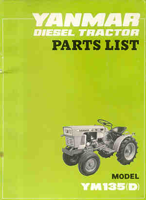 Yanmar Tractor Ym Ym D Parts Manual P on Yanmar Tractor Manuals