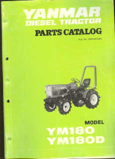 Yanmar Tractor YM180 YM180D Parts Manual