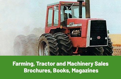 Farming, Tractor and Machinery Sales Brochures, Books and Magazines